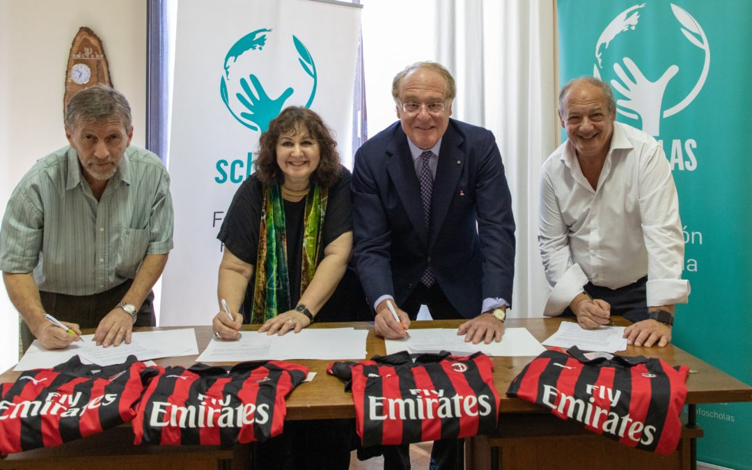 Scholas Occurrentes, Fondazione Milan and Think Equal have partnered.