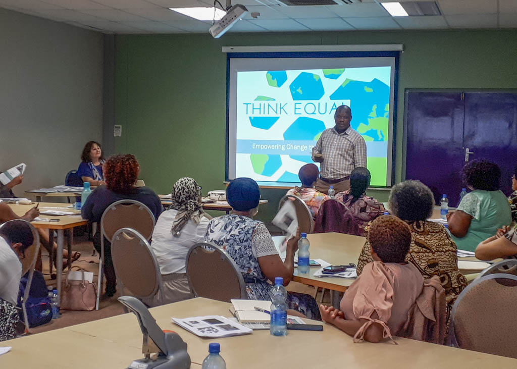Training teachers in South Africa.