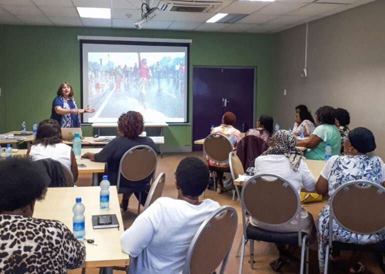 Leslee Udwin at Think Equal Training in South Africa Talking about how Think Equal started.